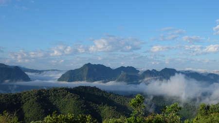 clound: Cloudy on hilltop landscape