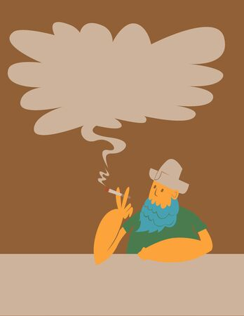 vaquero: Smoking cowboy