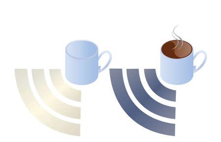 GET COFFEE GET WIFI Vector
