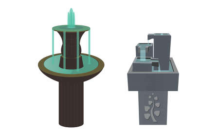 water fountain: The Two Fountains of Antique and modern