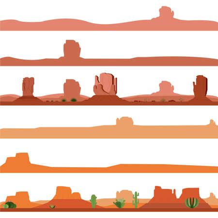 desert: Set of America Desert Landscape