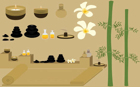 masseuse: Relax with Oriental Therapy Healthy   Spa and Massage Illustration