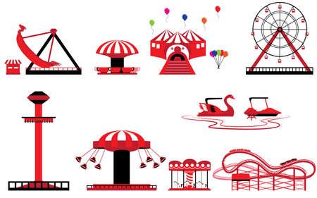 theme park: Set of Theme park and Amusement