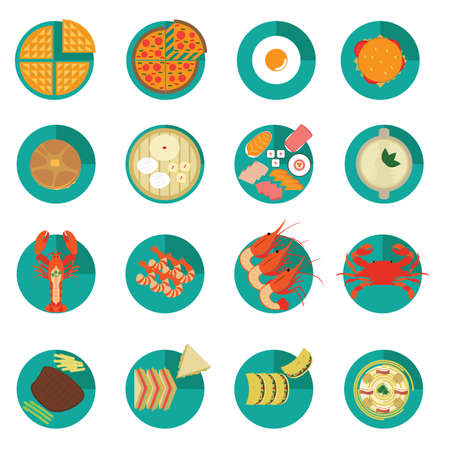 Set of Many Creative International Food Menu  Vector