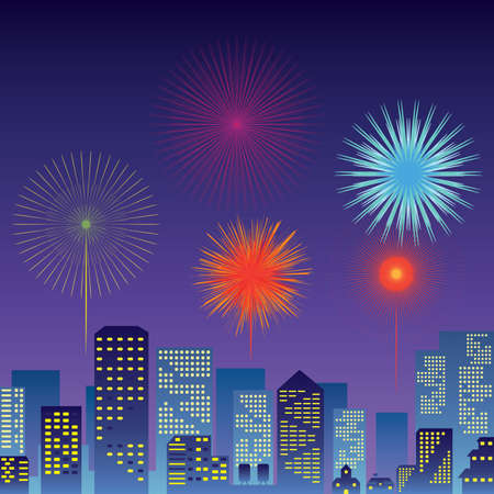 count down: Count down New Year Festival and Fireworks vector