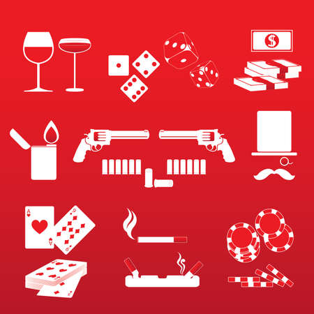 merlot: Gambler and Casino Vector and Icon