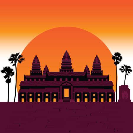 ancient civilization: 7 Wonder of the world Angkor Temple