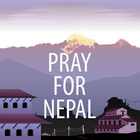 pray for: Pray for Nepal Vector