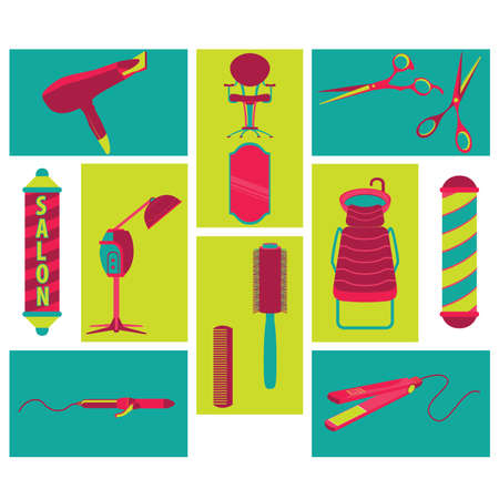 hair wash: Barber Beauty and Salon Vector and Icon Illustration
