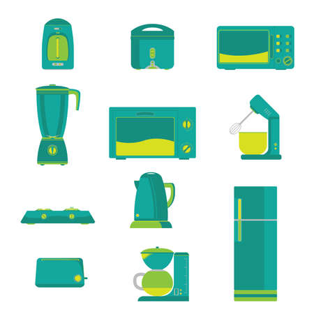 appliance: Electric Home Kitchen appliance Vector Illustration