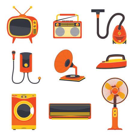 appliance: Retro Electric Home Appliance Vector