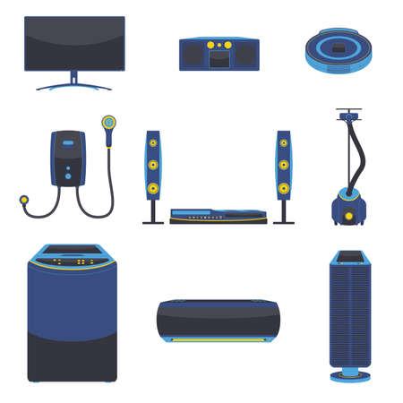Modern Electric Home Appliance Vector Illustration