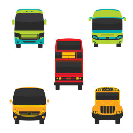 Bus Front and Transportation Vector