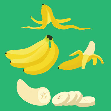 Banana Tropical Fruit Vector Ilustracja