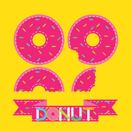 full of holes: Bird Eye View Doughnut or Donut Vector and Icon