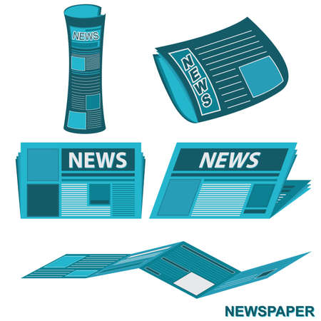 article writing: Newspaper Document and Report Vector