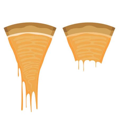 bite: Piece of Cheese Pizza with a Missing Bite Illustration
