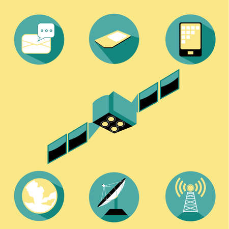 service: Set of Telecommunication and Connection Vector and Icon