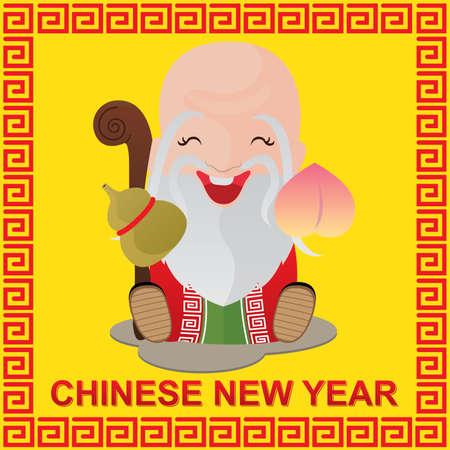 Año Nuevo chino y dios chino