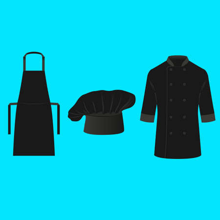 chef uniform: Chef and Cook Clothing Vector Illustration