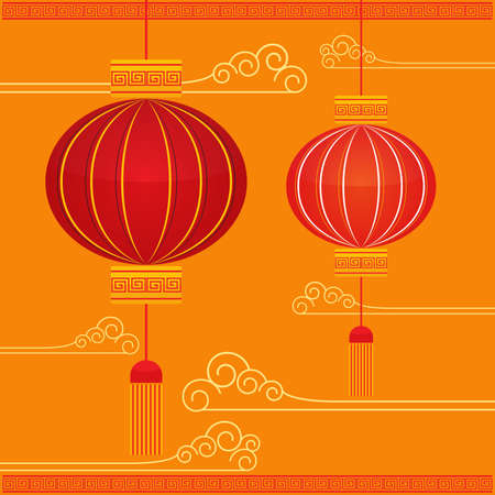 new year decoration: Asian Lantern and Festival