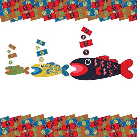 eats: Big fish eats little fish Business Currency
