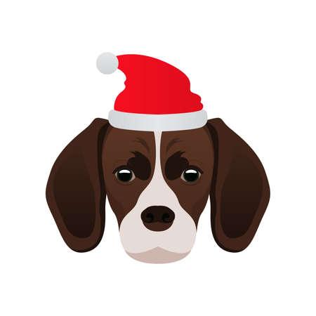 Merry Christmas Dog Beagle
