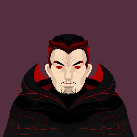 Dracula en Vampier Karakter Stock Illustratie