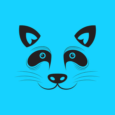 Raccoon and ferret vector and icon