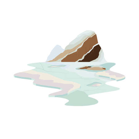Iceberg Mountain Glacier Lake Landscape Vector