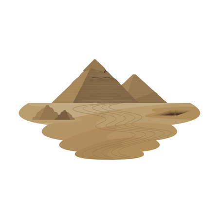 Great Pyramid Ancient Monument Egypt Desert Landscape Vector