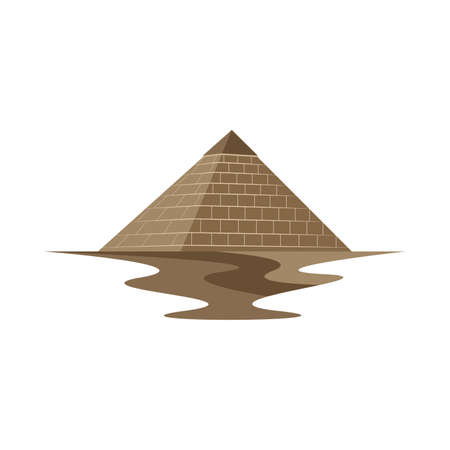 Pyramid Egypt Ancient Monument Vector Logo and Icon