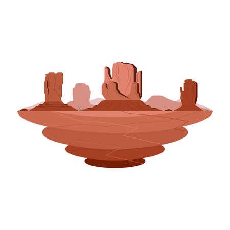 Monument Valley Sandstone Mountain Desert Landscape Vector
