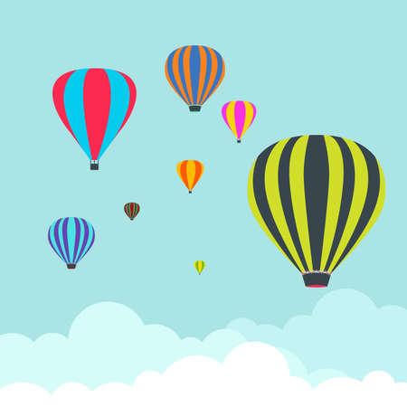Balloon Air Travel Transport Festival Vector