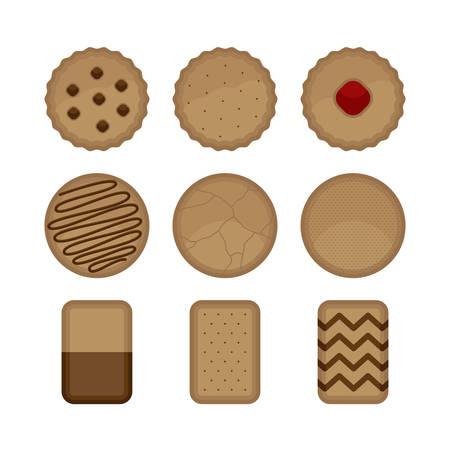 Cookies Biscuit Bakery Sweet Dessert Vector and Icon