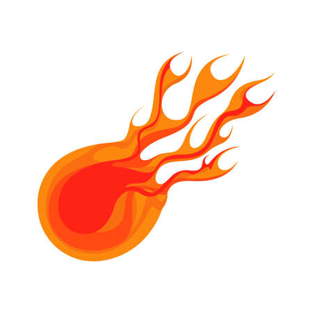 Fireball and Flame Element Vector and Icon