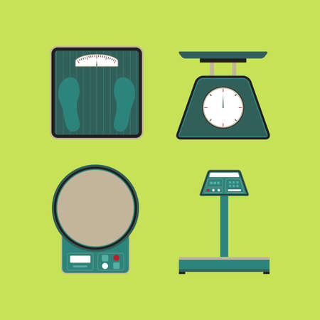 Set of Weight Scale Measure Tool Vector and Icon
