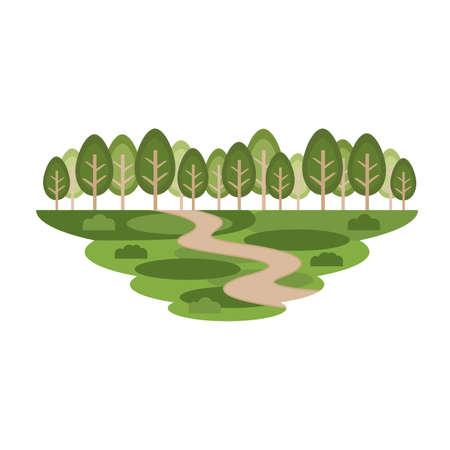 Park Tree Nature Forest Landscape Vector