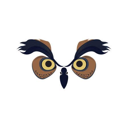 Owl Bird Head Vector and Icon for Website and Logo Иллюстрация