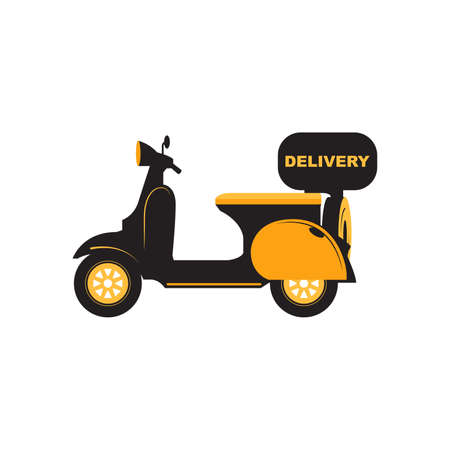 Motorbike and Motorcycle Fast Delivery Service Vector and Icon