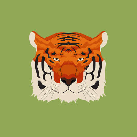 Bengal Tiger Head Vector and Icon
