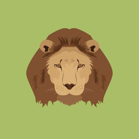 Lion Leo Head Vector and Icon