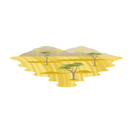 Africa Savanna Glassland Safari Landscape Vector