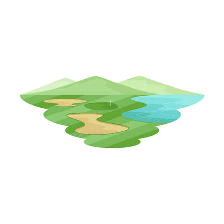 Golf Club Course Landscape Vector