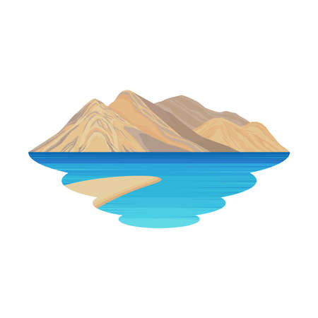 Leh Ladakh India Mountain Lake and River Landscape Vector Ilustração