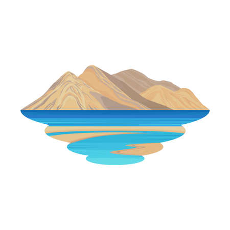 Leh Ladakh India Mountain Lake and River View Landscape Vector
