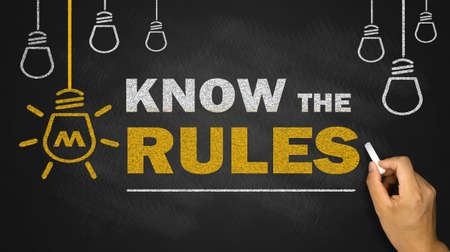 know the rules on blackboard Archivio Fotografico