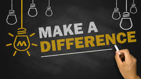 make a difference on blackboard background
