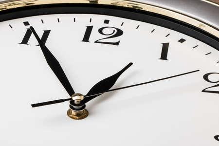 administración del tiempo: parte de un reloj de pared