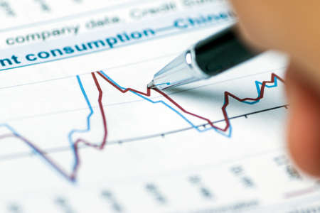 financial assets: financial analysis concept